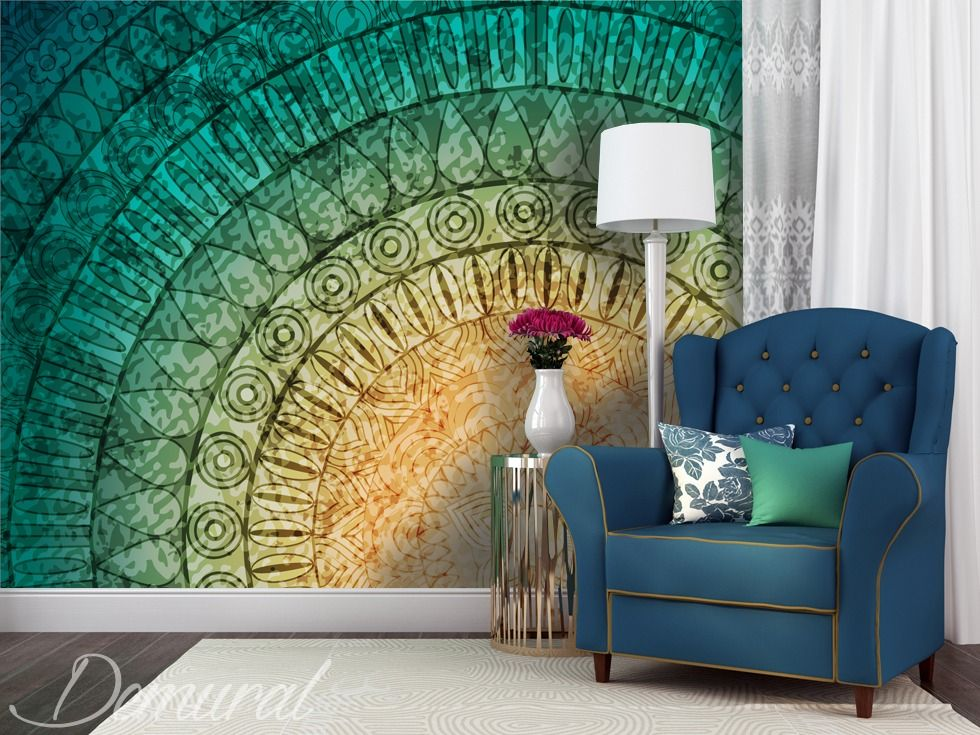 A Mural Mandala Wall Murals And Photo Wallpapers