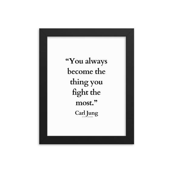 30 | Carl Jung Quotes | Framed Print Poster | 210107| Self Help Psychology Famous Saying Words Wall