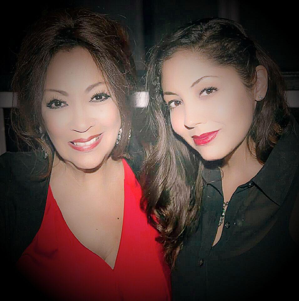 Gina and I at Thelma Houston Concert, at Circus Disco