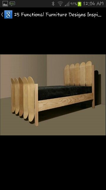 Skateboard Bed Cool Beds Wooden Bed Boys Bedrooms