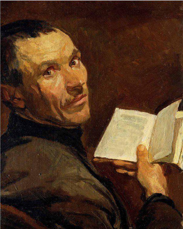 Аркадий Пластов. «Автопортрет с книгой». 1930-е.