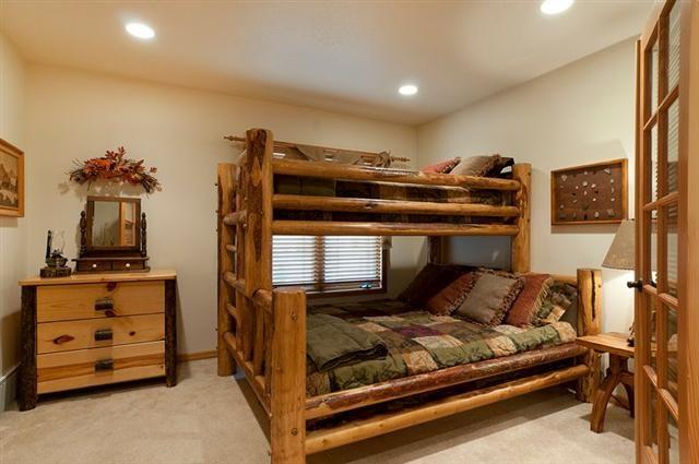 Custom Deluxe Pine Log Bunk Beds Bunk Beds Rustic Bunk Beds Bed