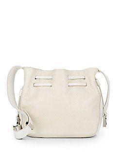 6e77b4793cdf Bag · Lizard-Embossed Leather Bucket Bag