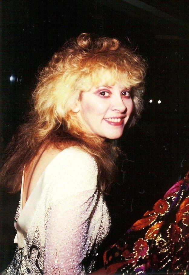 "Stevie Nicks at the ""Purple Rain"" movie premiere 1984"