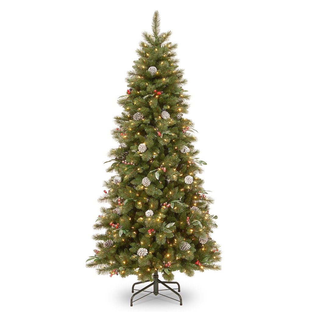 National Tree Co. 7.5 ft. Frosted Pine Berry Slim