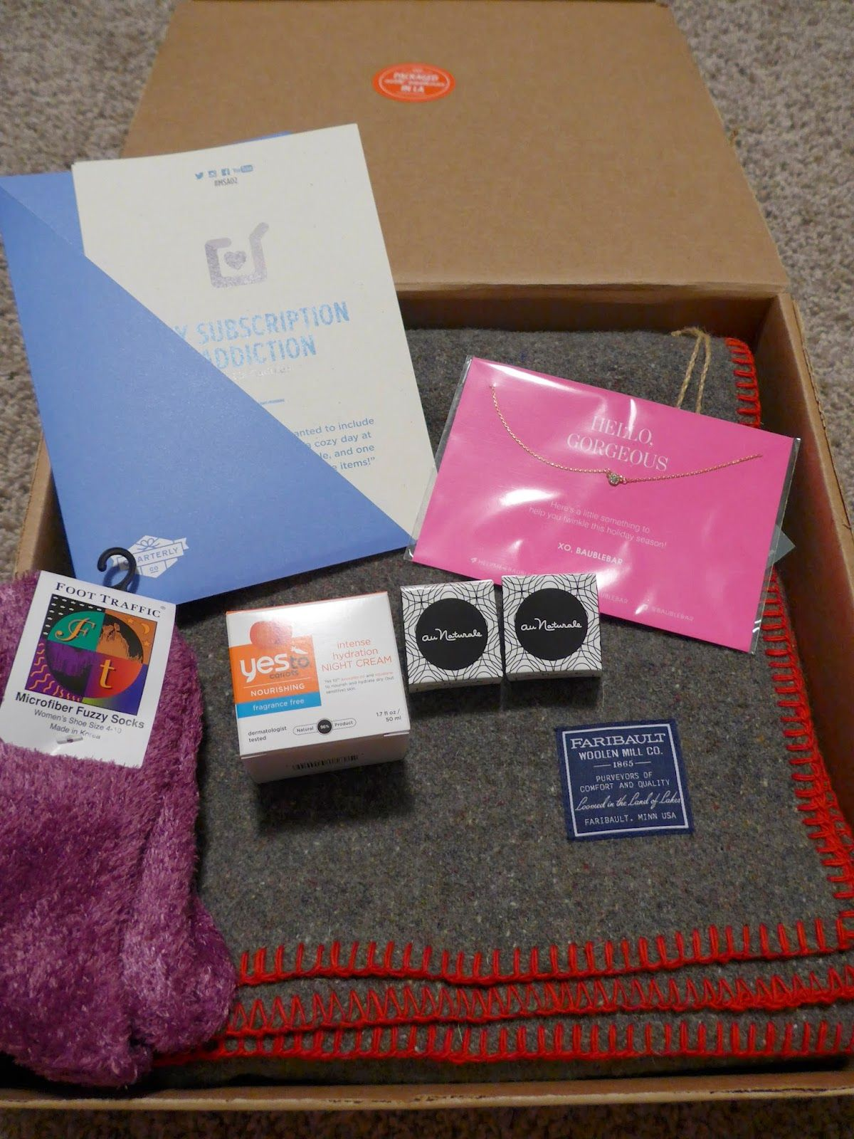 See the World in PINK: December 2014 My Subscription Addiction Quarterly Co. Box Review #MSA02