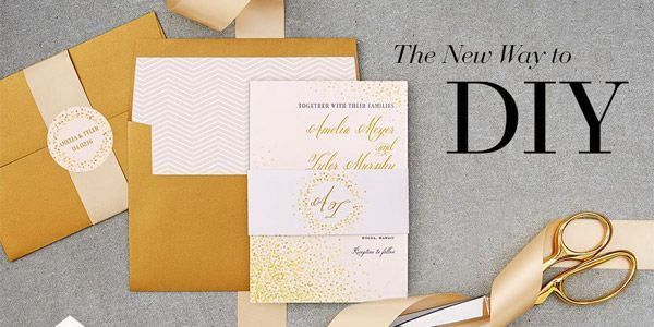 Making Wedding Invites Yourself: Wedding Paper Divas Foil Stamped Invitations & DIY Goodies