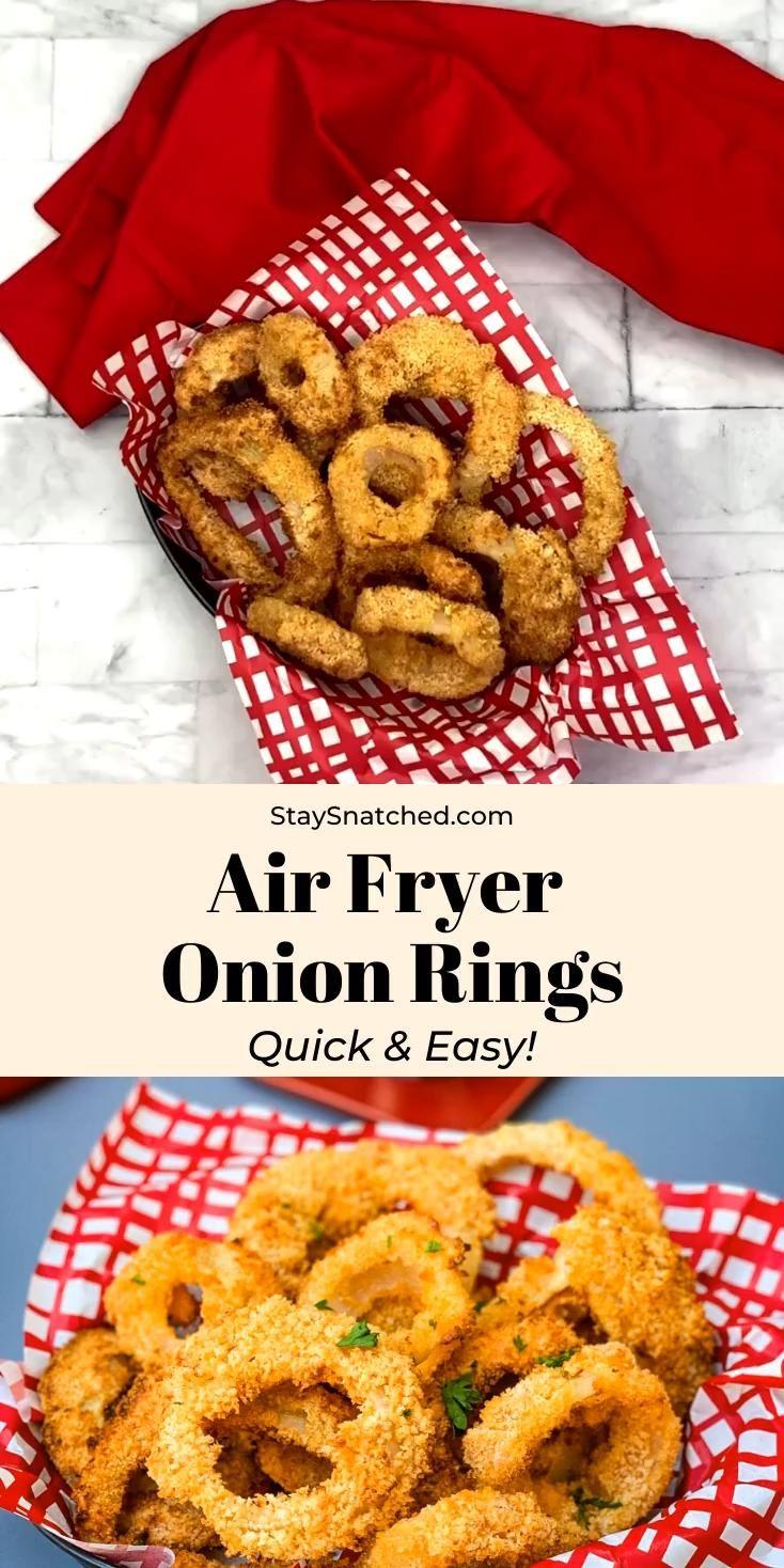 Crispy, Homemade Air Fryer Onion Rings + {VIDEO}