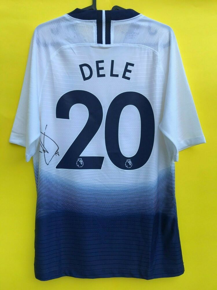 brand new 644a9 d0bd2 Tottenham jersey DELE ALLI number 20 signed autograph COA ...