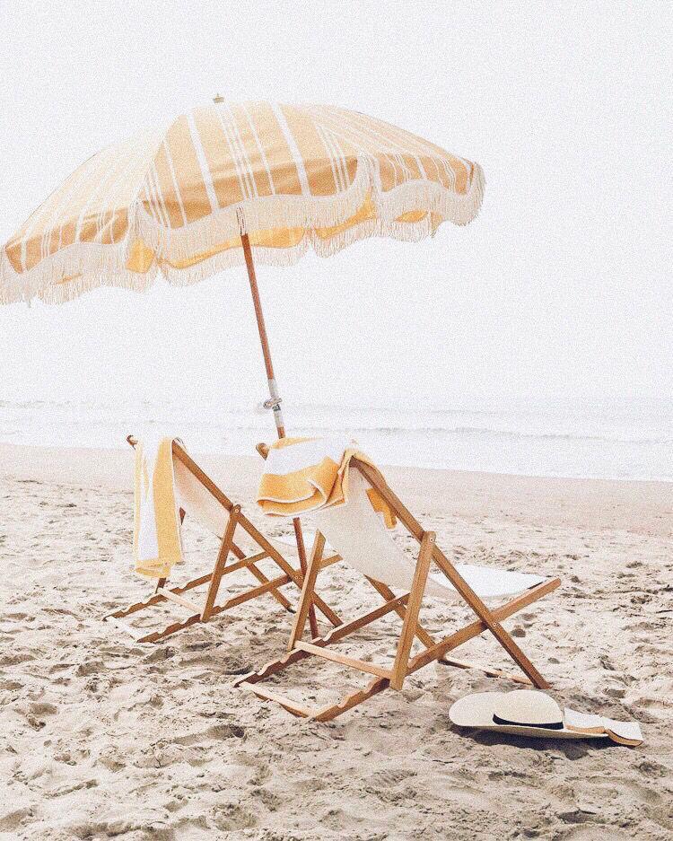 Teak Sling Chair Beach Aesthetic
