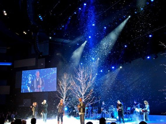 Big Ol Trees With Images Christmas Stage Design