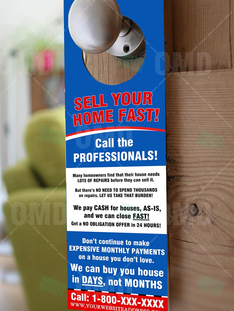 We Buy Houses Door Hanger 1 We Buy Houses Sell Your House Fast Home Buying