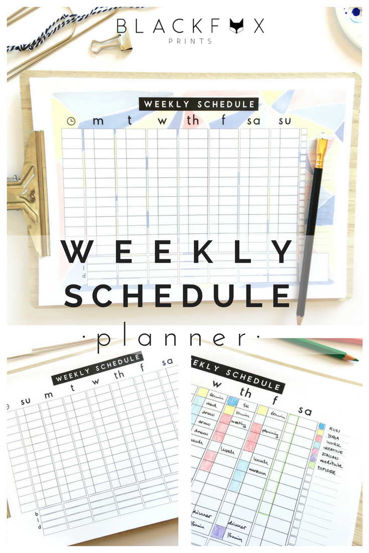 Weekly Mom Geometric Planner Printable Weekly Timetable Planner Meal Student Schedule Planner Sunday And Mondays Weeks Family Organizer Planner Schedule Planner Planner Template
