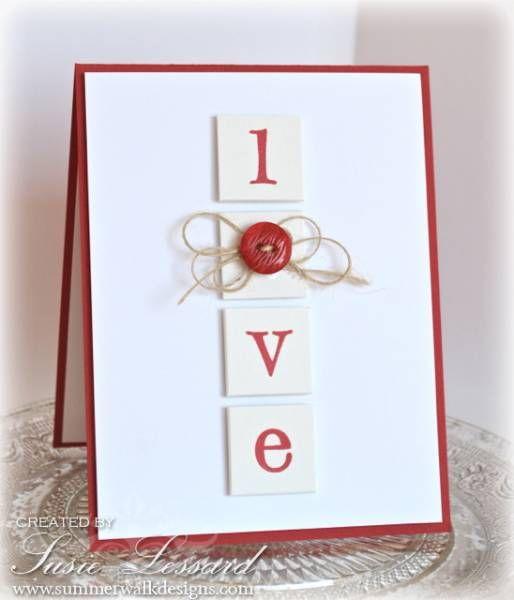 Love Button card