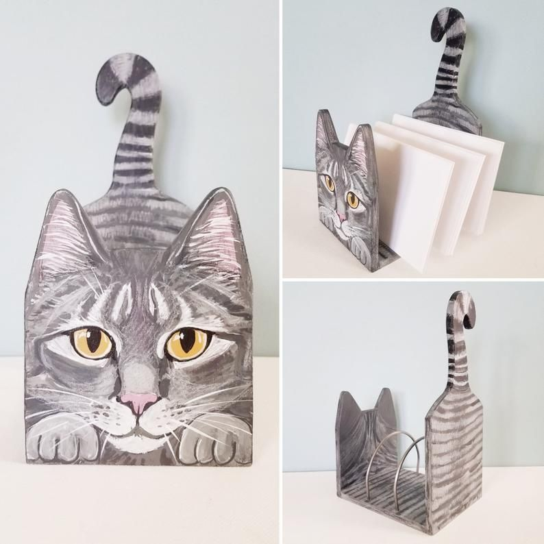 Custom Cat Desk Organizer Cute Desktop Organizer Etsy In 2020 Custom Cat Cat Themed Accessories Custom Cat Portrait