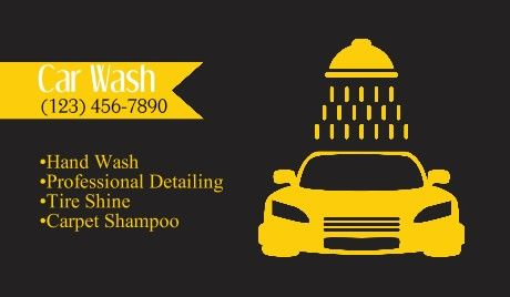 car wash detailing business cards cars business card templates business card design - Car Wash Business Cards