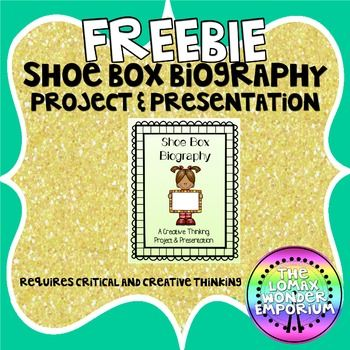 EDITABLE Shoe Box Biography Project  Presentation (Think Outside