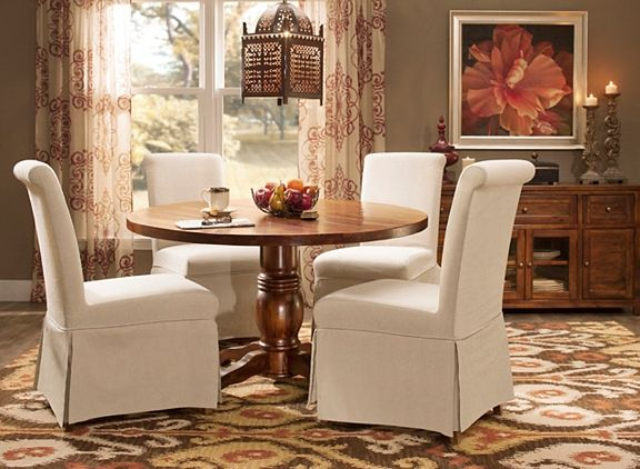 Urban Lodge Dining Set W 4 Upholstered Chairs