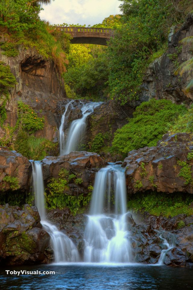 Ohe O Gulch Falls On The Hana Highway Maui Hawaii Aka Seven Sacred Pools Waterfall Maui Travel Trip To Maui Hawaii Landscape