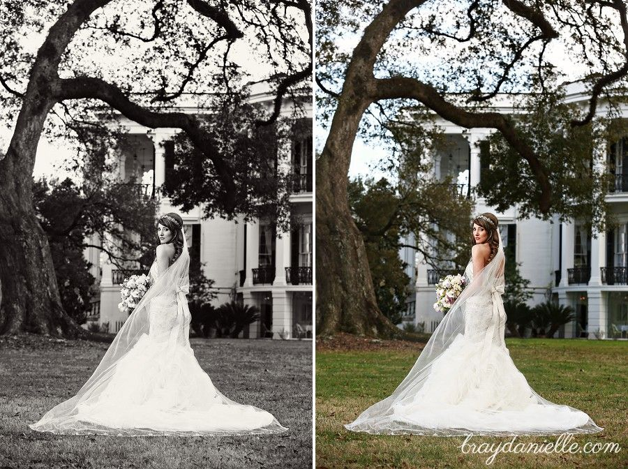 Jillians Bridal Portraits At Nottoway Plantation In White Castle LA Baton Rouge Wedding Photographers