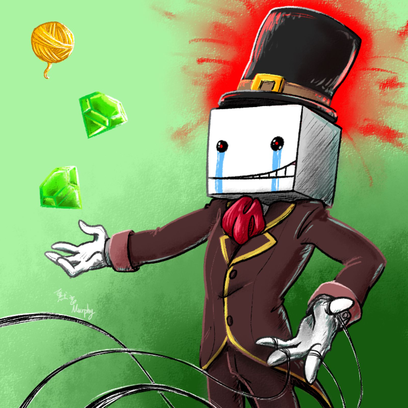 Hatty Hattington By Yuhhei4666 On Deviantart Castle Crashers Fan Art Art
