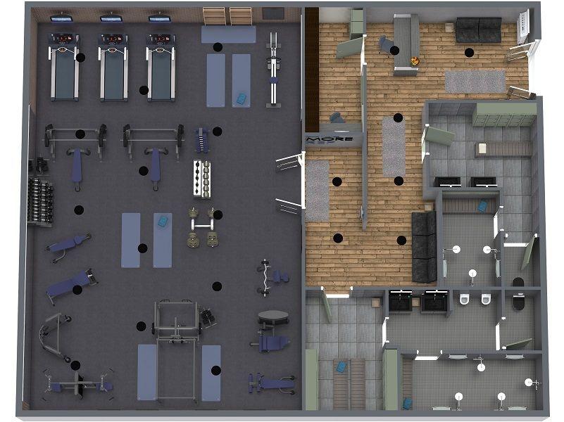 Design Your Gym Easy 3d Gym Planner Gym Interior Gym Design