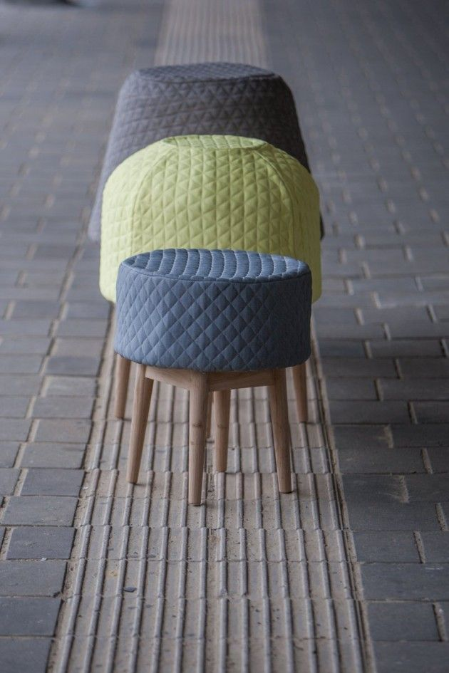 Designer Véronique Baer has created BOUNCE, a foam sculpture that turns into a chair when someone sits down.