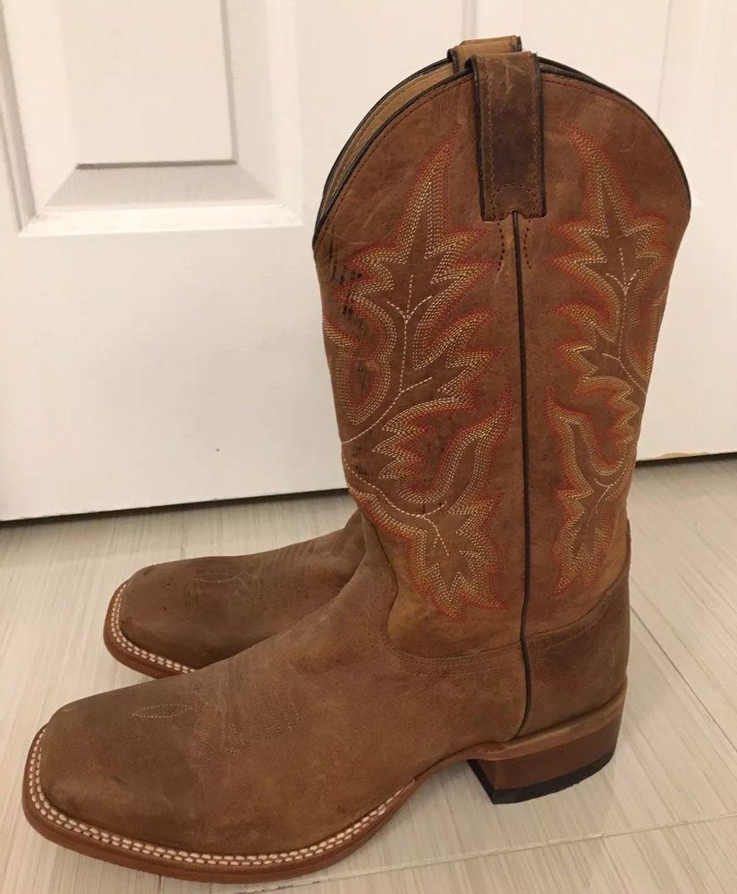 a03d4d5232a Cody James BBS17 Men's Stockman Square Toe Cowboy Boot Brown, Size ...