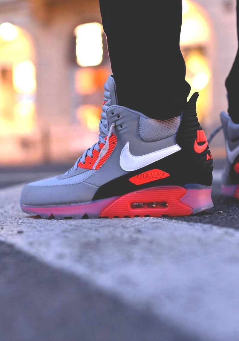 half off 0b3be afaf8 ριηтεяεsт ⚘qωε3ηв⚘ ♕ Nike Air Max 90 Sneakerboot Infrared