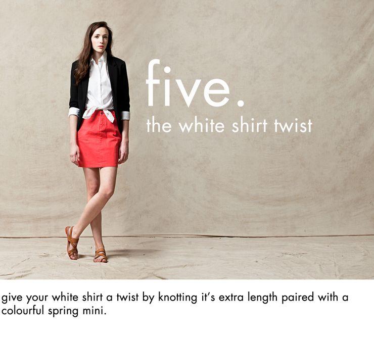 White Shirt Styles  www.natashafatah.blogspot.com