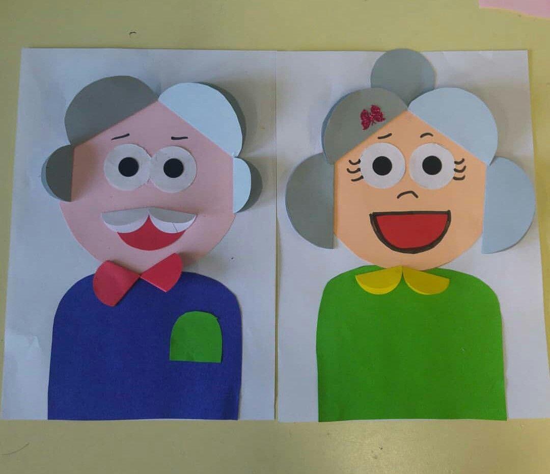 Аппликация открытка для дедушки