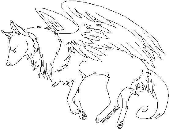 Photo of Cool Anime Wolf Coloring Pages