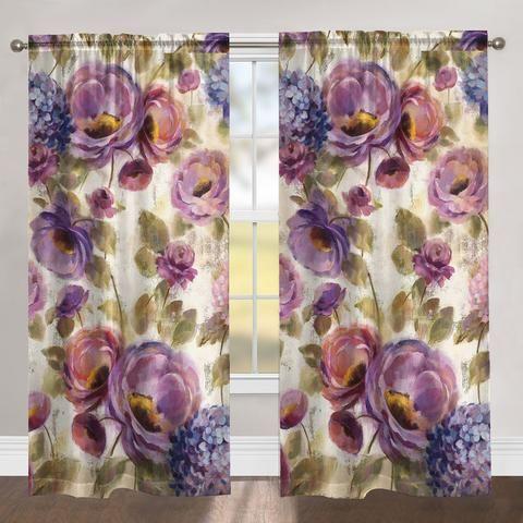 Precious Purples and Blues Room Darkening Window Panel images
