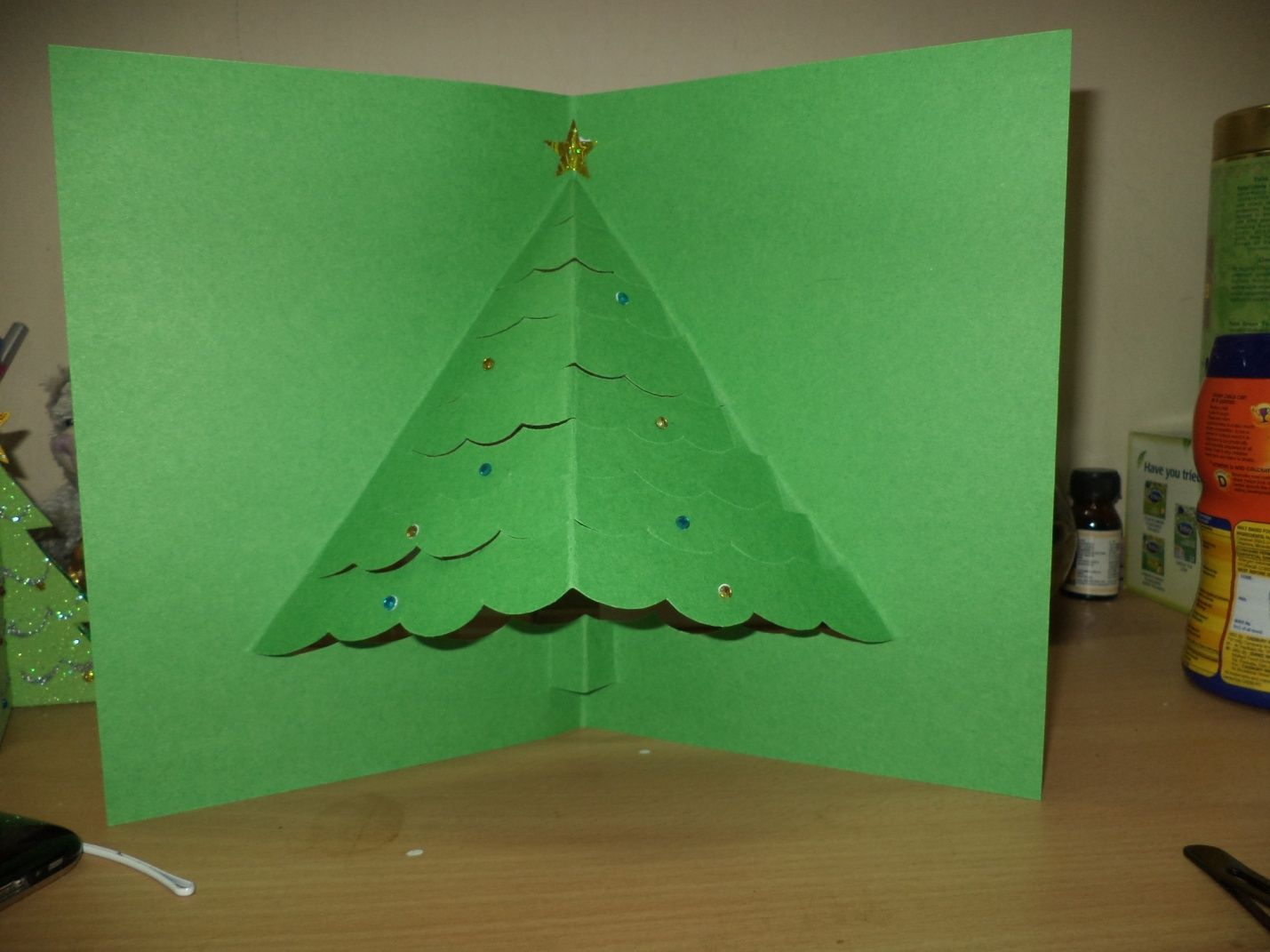D pop up tree card trees crafts and christmas