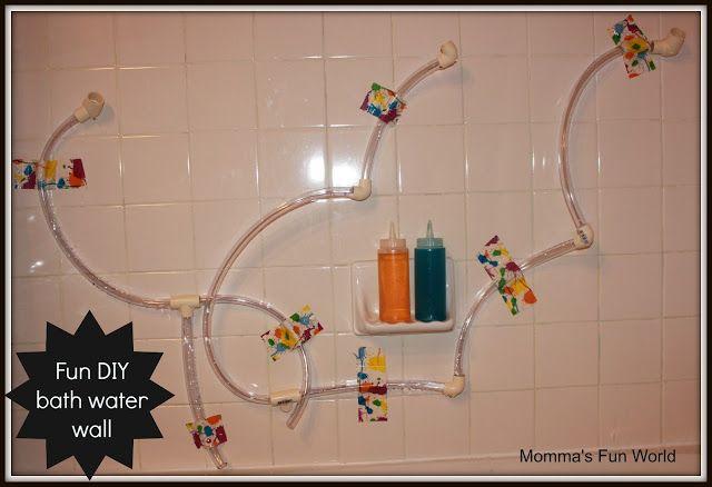 Momma\'s Fun World: Make your own bath water wall | Sensory play ...
