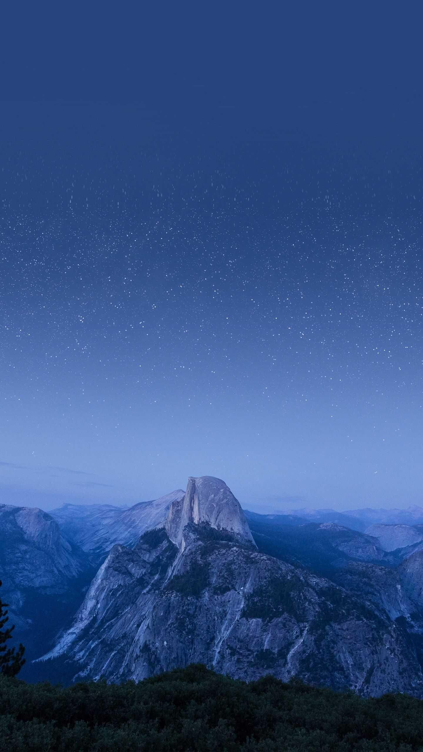 Yosemite Mountain Night Stars Iphone Wallpaper Yosemite Mountains Yosemite Wallpaper Iphone 6s Wallpaper