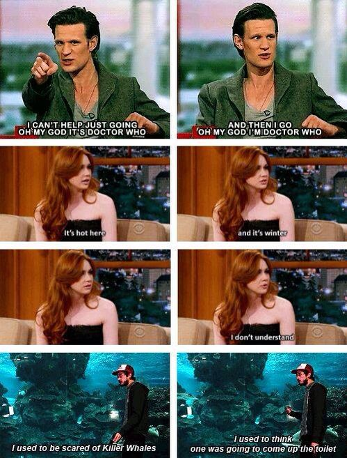 The cast of Doctor Who everyone.