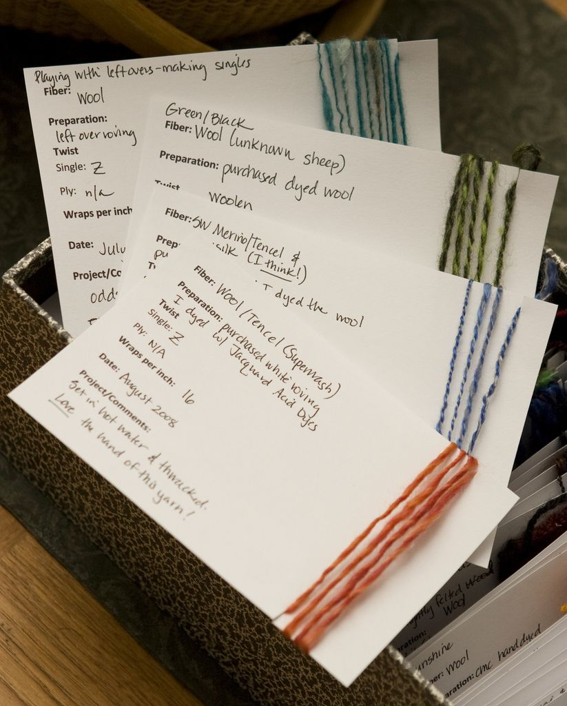 Tracking Your Spinning - Spinning Template Cards In an effort to get ...