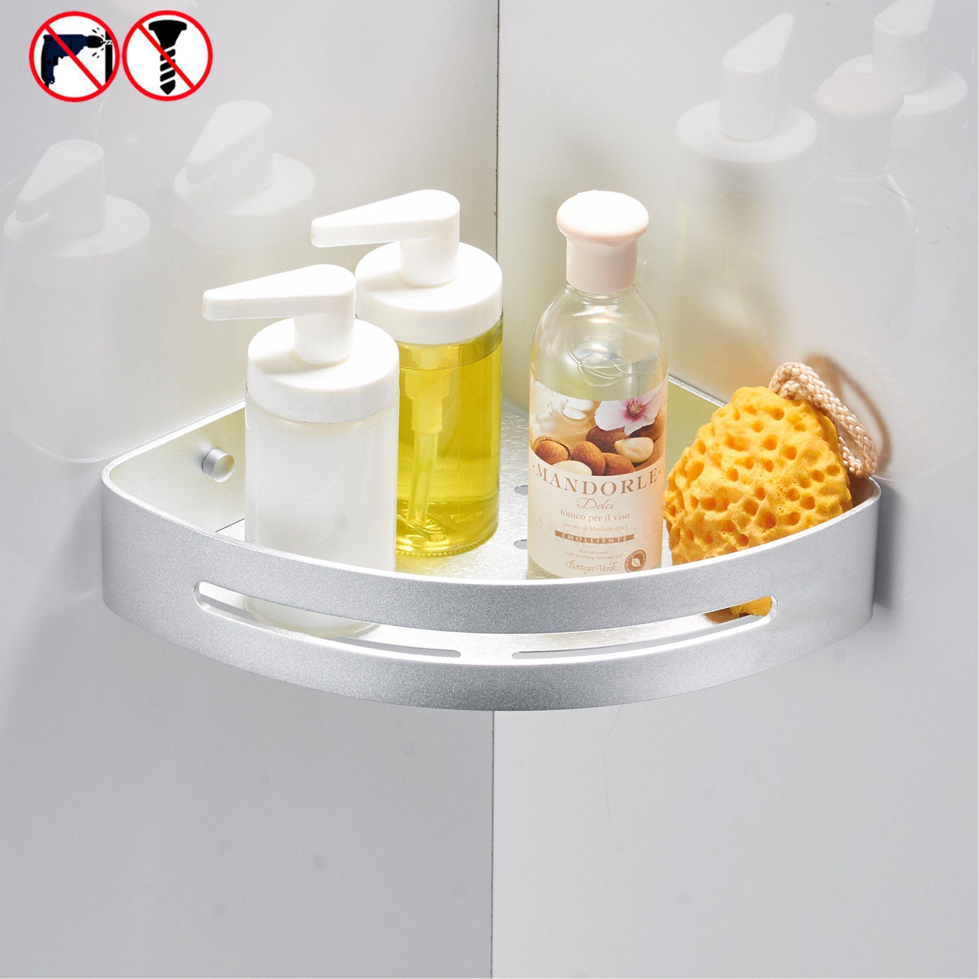 BESy Shower Corner Caddy Bathroom Shower Corner Shelf Self Adhesive