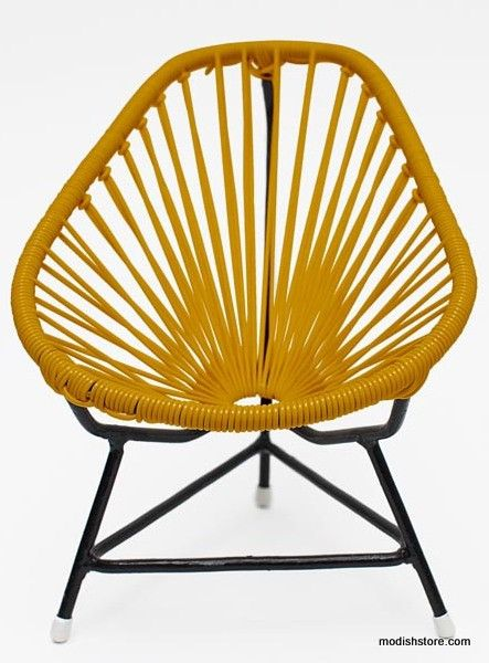 Innit Baby Acapulco Chair   Black Frame Caramel Weave