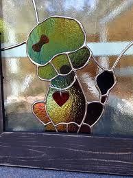 Résultats de recherche d'images pour «stained glass poodle»