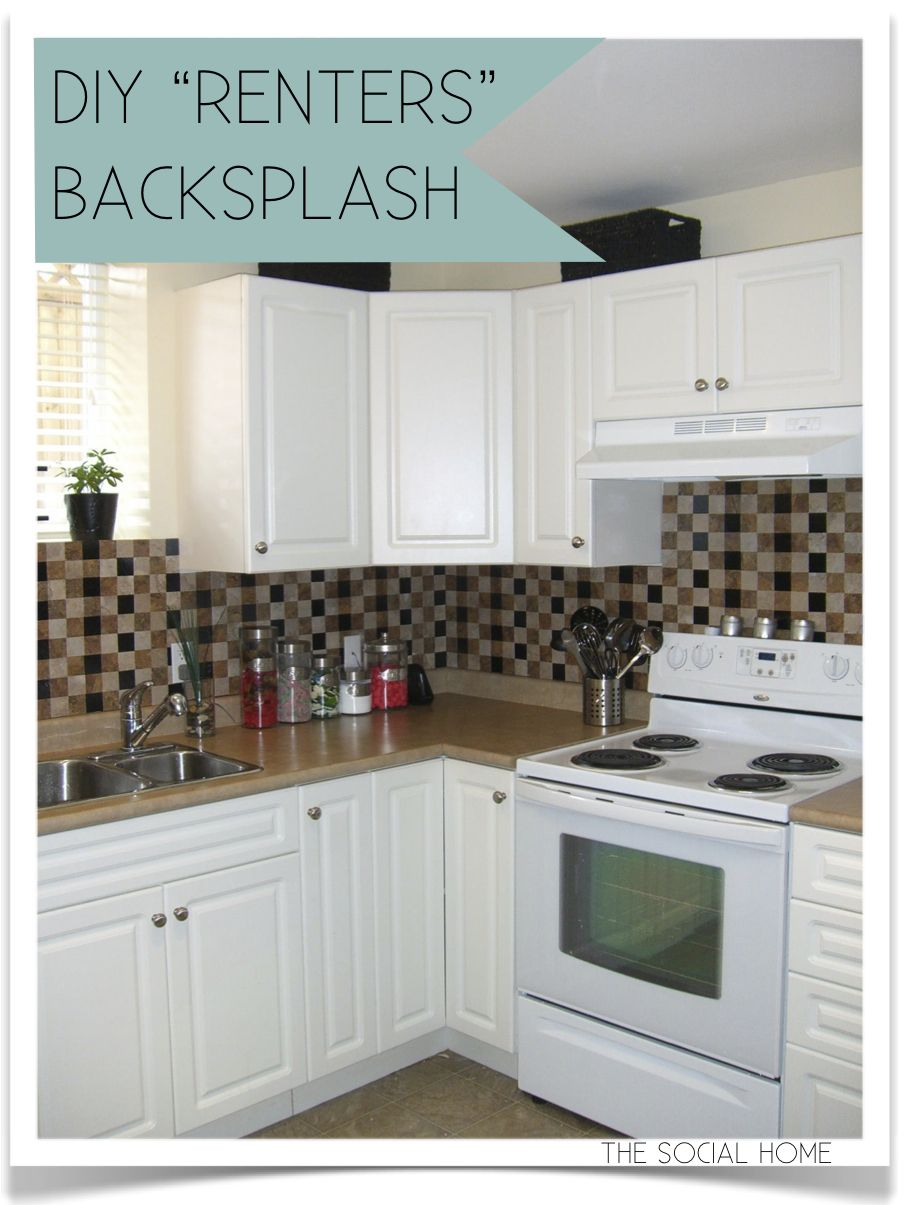 Removable Tiles For Apartment Decorating Diy Renter's Backsplash  Decor Diys  Pinterest  Vinyl Tiles