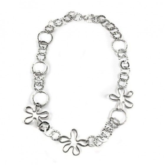 Silver Necklace | Silver Flower Necklaces | Pinterest