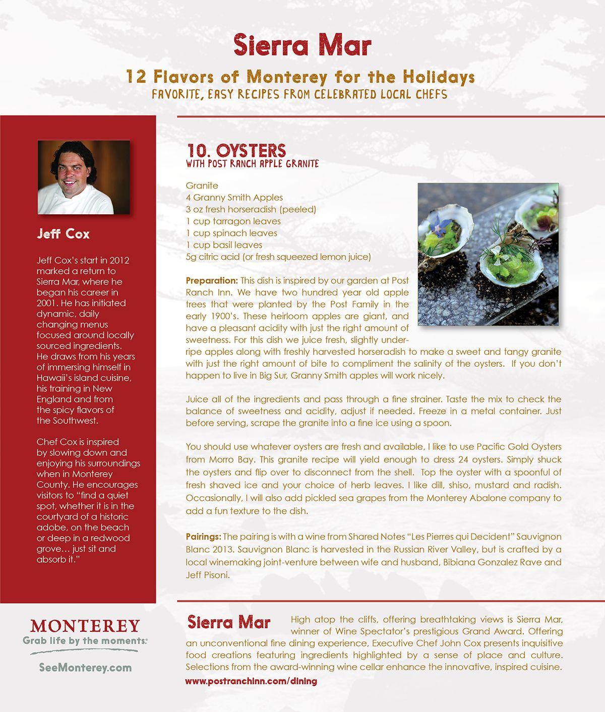12 Flavors Of Monterey Day 10 Sierra Mar Blog Monterey Roast Rack Of Lamb Flavors Spice Recipes