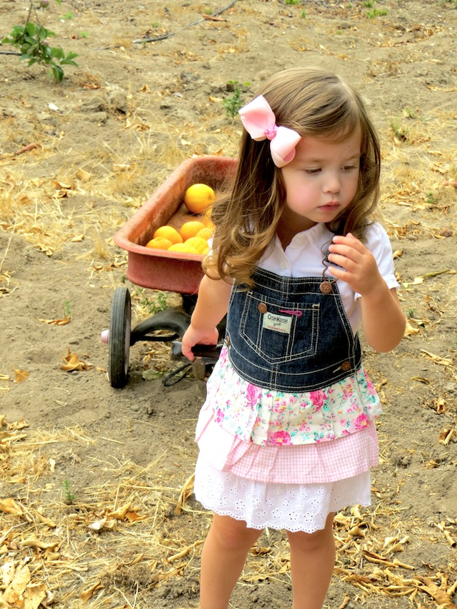 Turn a pair of overalls into a cute frilly girly dress!!! LOVE this idea!