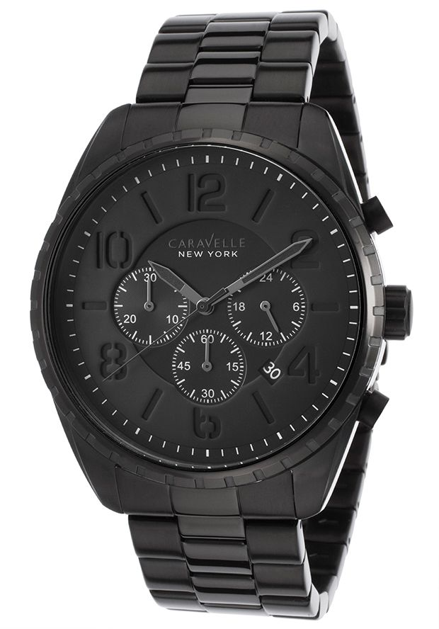 fab7c8aa3 Caravelle by Bulova 45B122 Watches,Men's Black Stainless Steel Black Dial,  Casual Caravelle by Bulova Quartz Watches