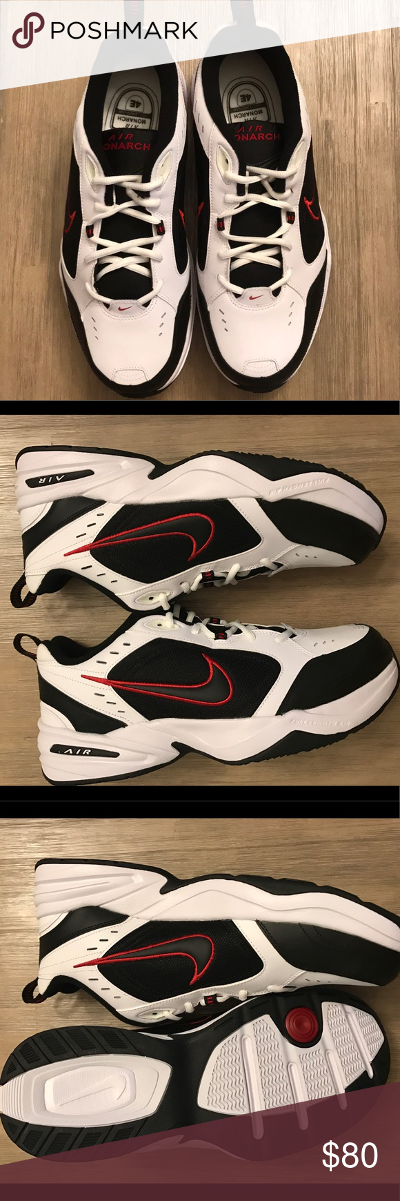 6b3f10c38ea6b Nike Air Monarch IV Men s Training Shoes New with box Color   White Black Red Nike Shoes Athletic Shoes