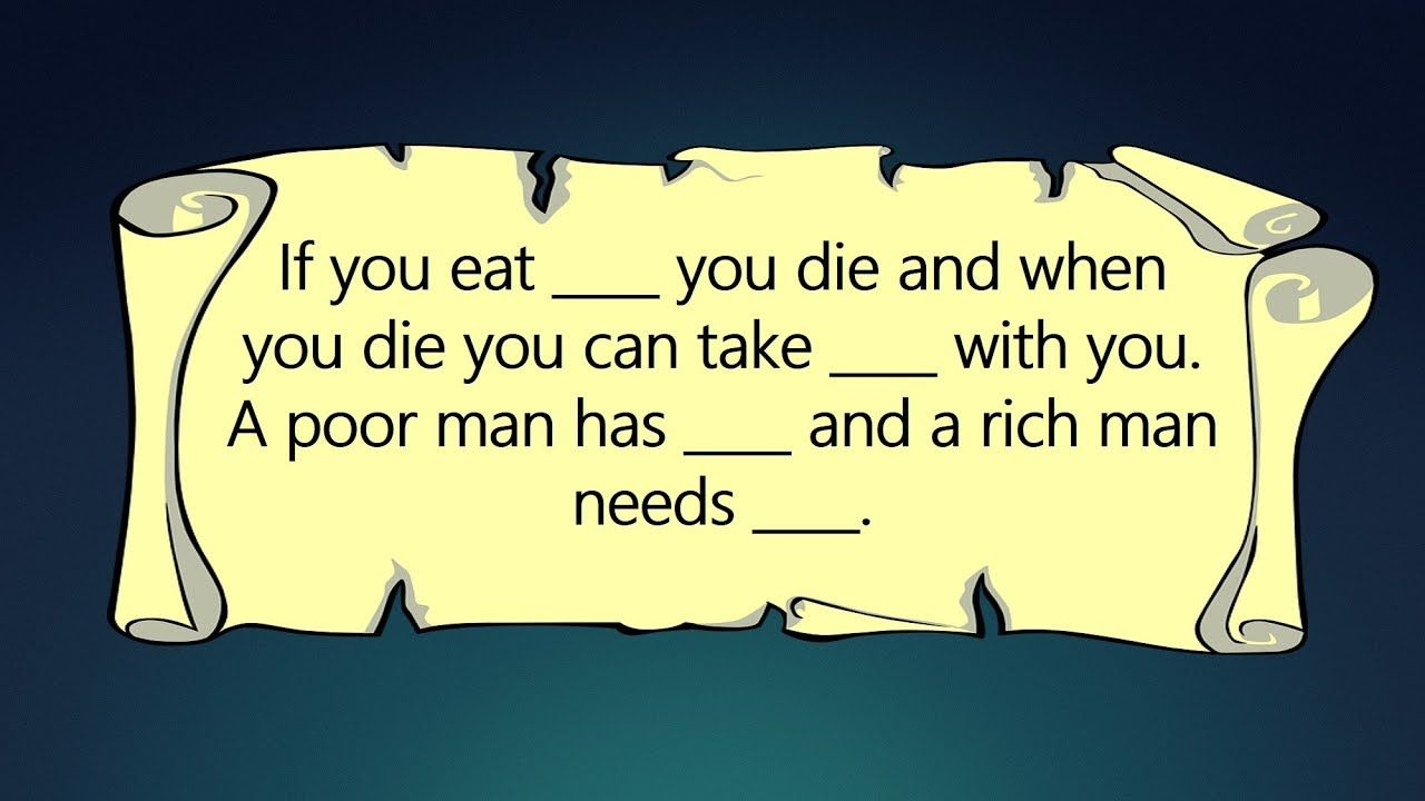 A poor man needs a rich man has it