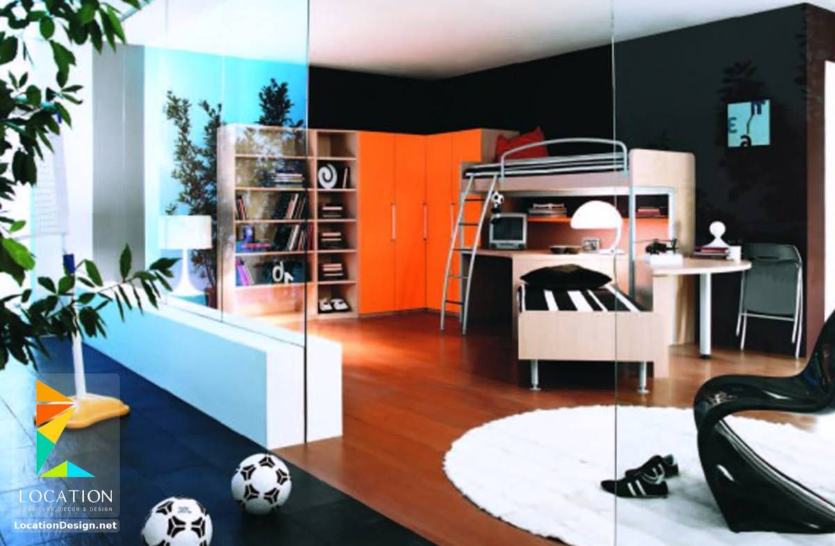 غرف نوم اولاد شباب أحدث موديلات غرف شبابي مودرن لوكشين ديزين نت Cool Dorm Rooms Awesome Bedrooms Contemporary Bedroom Decor