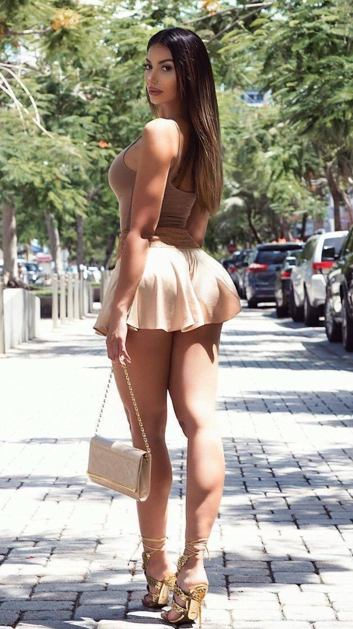 Tight asses in short skirts